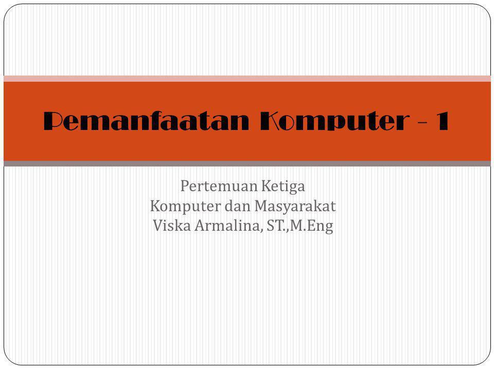Pemanfaatan Komputer - 1