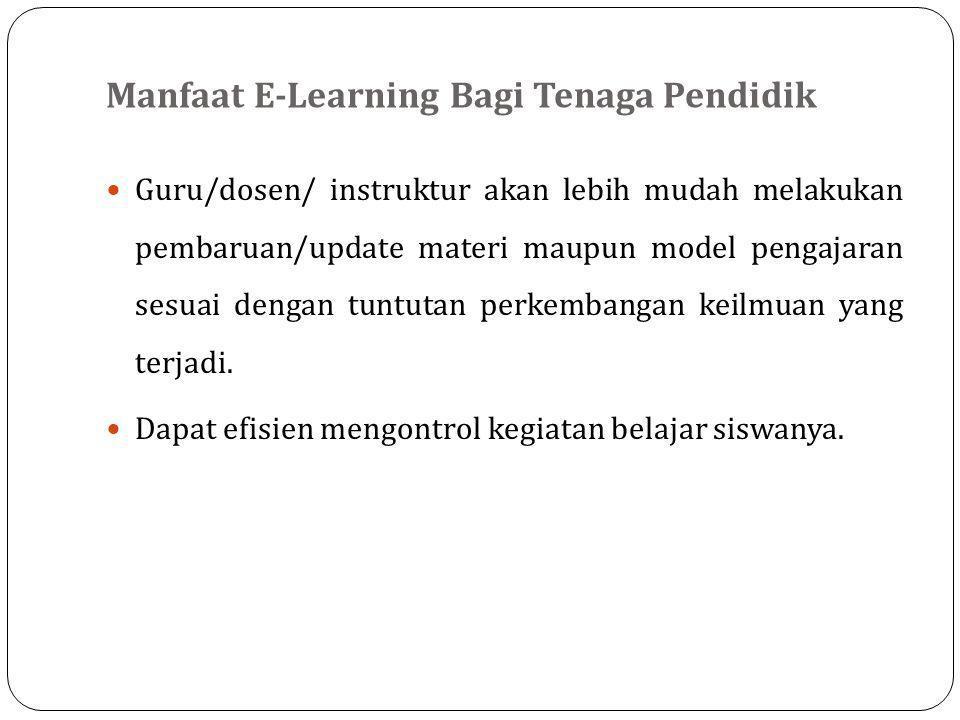 Manfaat E-Learning Bagi Tenaga Pendidik