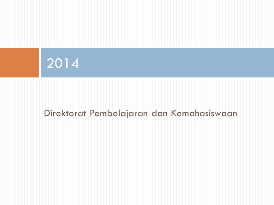 2014 Direktorat Pembelajaran dan Kemahasiswaan