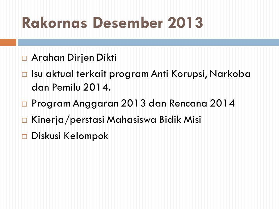 Rakornas Desember 2013 Arahan Dirjen Dikti