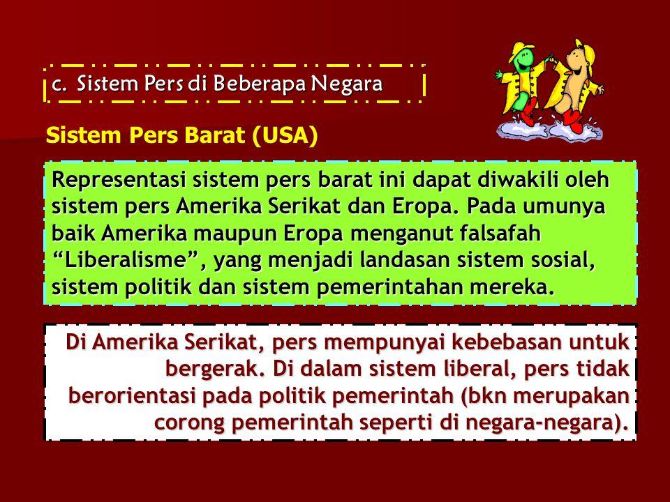 Sistem Pers di Beberapa Negara