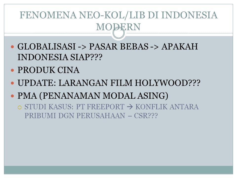 FENOMENA NEO-KOL/LIB DI INDONESIA MODERN