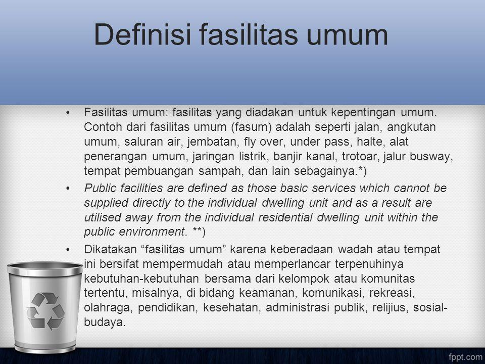 Definisi fasilitas umum