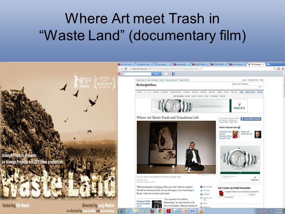 Where Art meet Trash in Waste Land (documentary film)