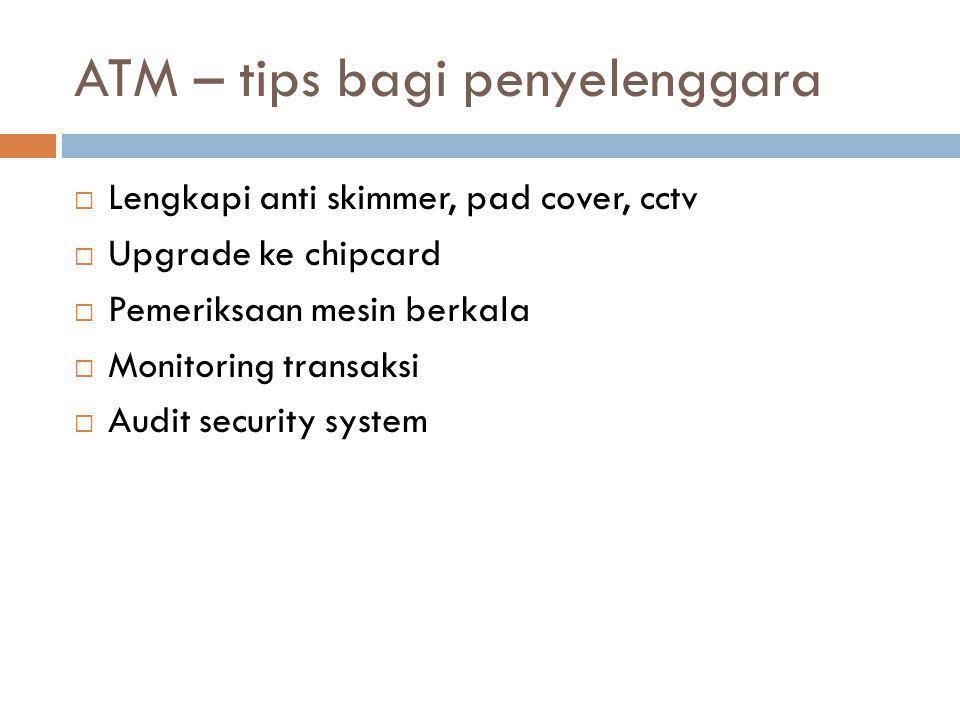 ATM – tips bagi penyelenggara
