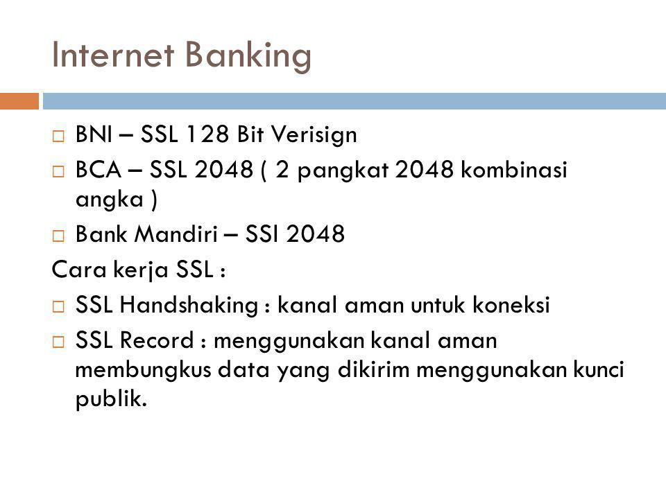 Internet Banking BNI – SSL 128 Bit Verisign