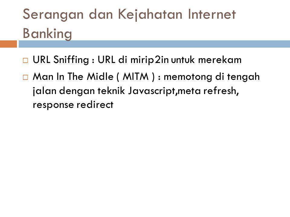 Serangan dan Kejahatan Internet Banking
