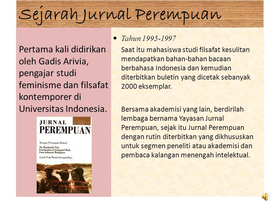 Sejarah Jurnal Perempuan