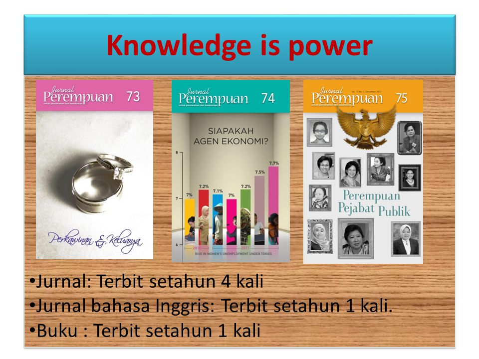 Knowledge is power Jurnal: Terbit setahun 4 kali