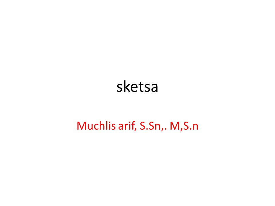 sketsa Muchlis arif, S.Sn,. M,S.n