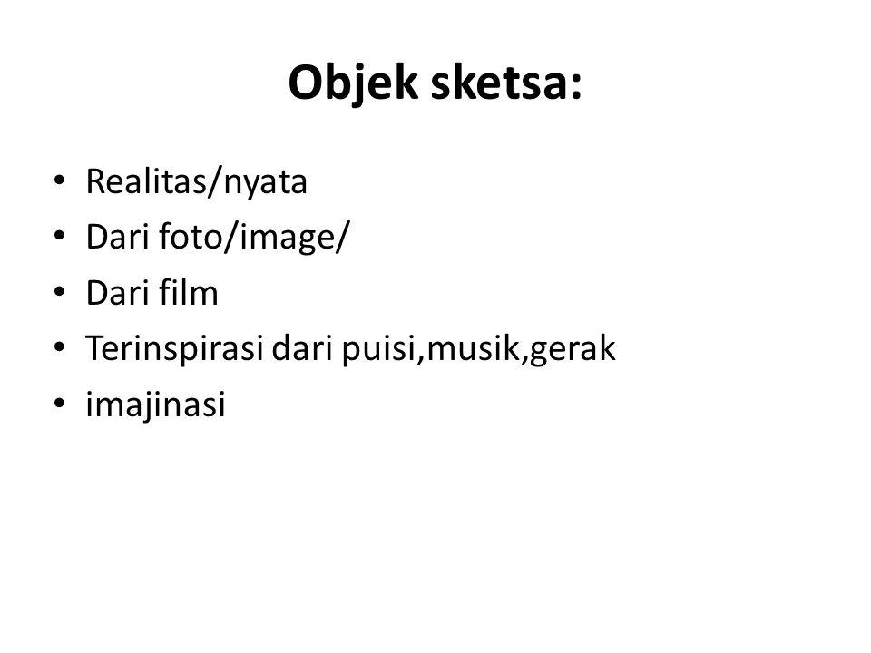 Objek sketsa: Realitas/nyata Dari foto/image/ Dari film