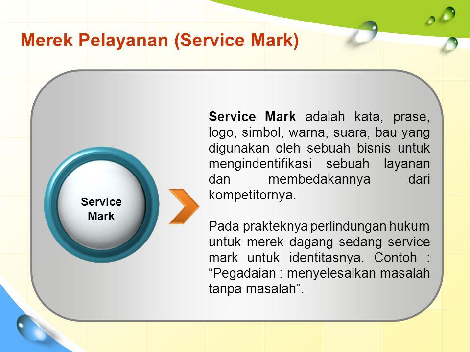 Merek Pelayanan (Service Mark)
