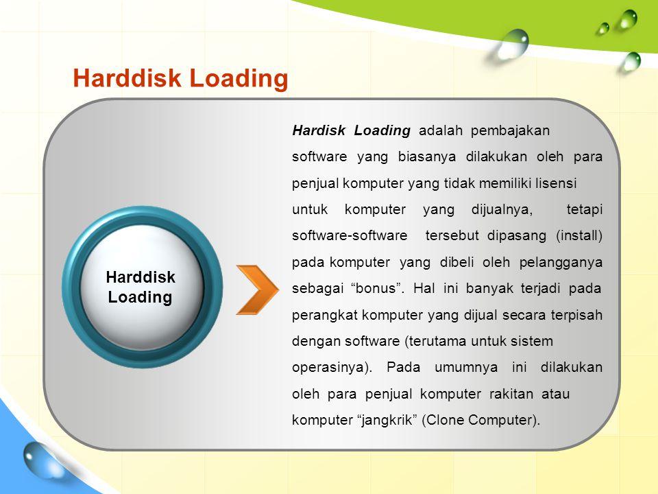 Harddisk Loading Harddisk Loading Hardisk Loading adalah pembajakan