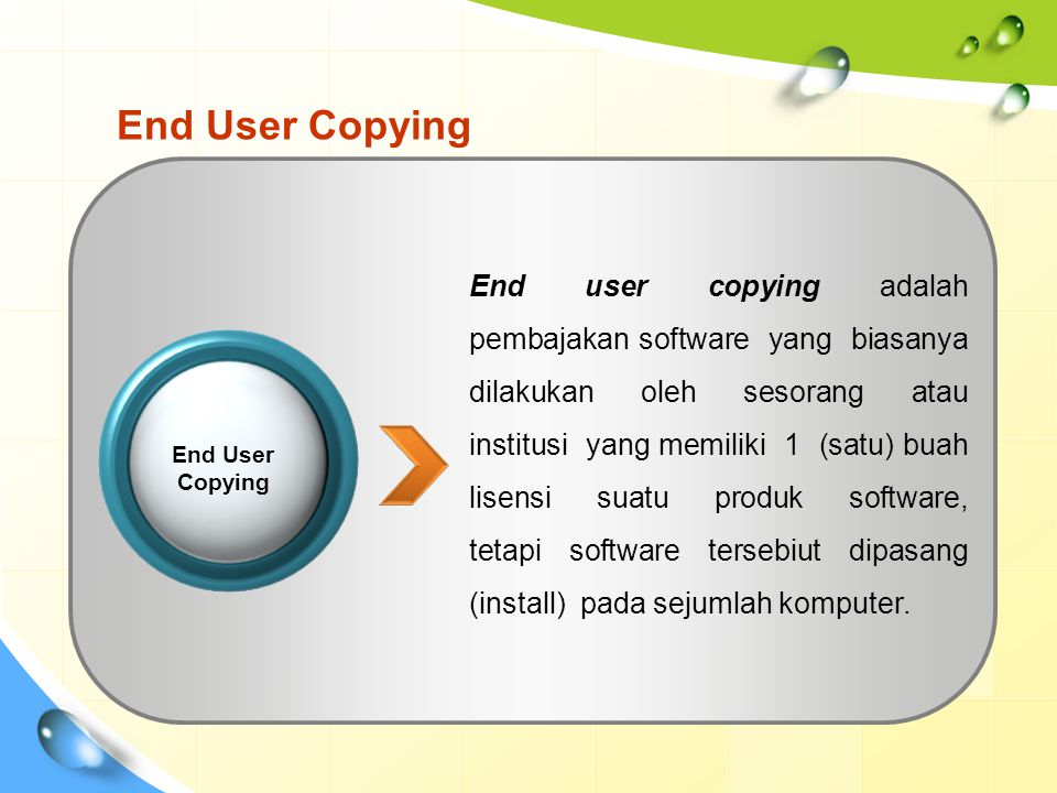 End User Copying