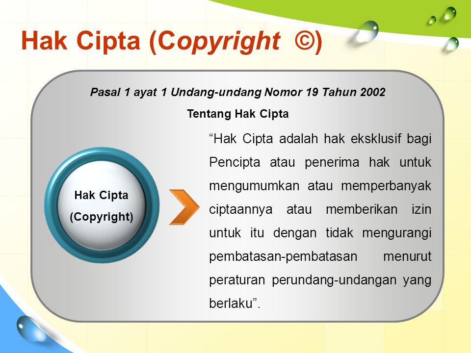 Hak Cipta (Copyright ©)