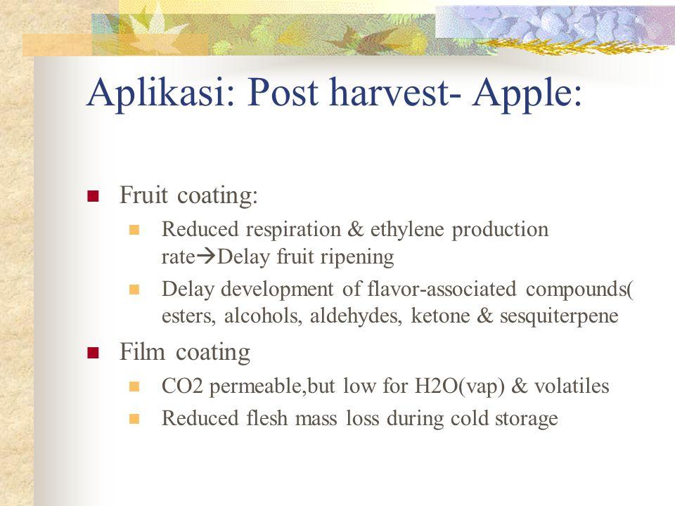 Aplikasi: Post harvest- Apple: