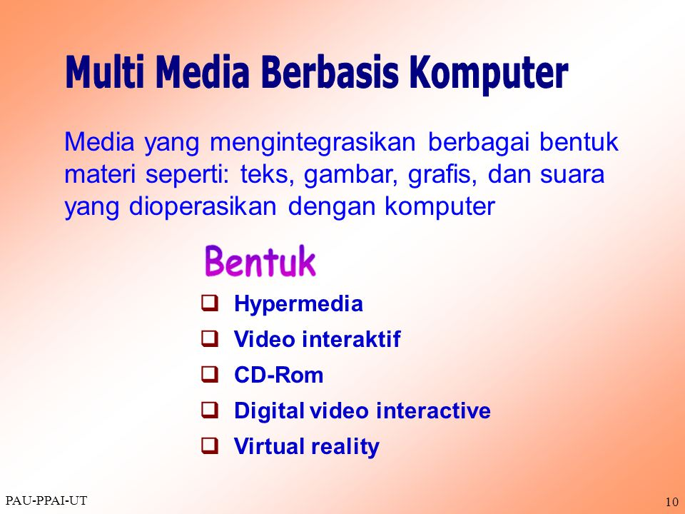 Multi Media Berbasis Komputer