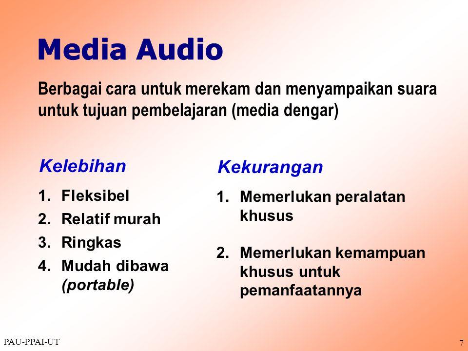 Media Audio Berbagai cara untuk merekam dan menyampaikan suara untuk tujuan pembelajaran (media dengar)