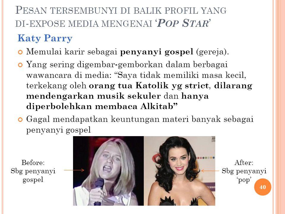 Pesan tersembunyi di balik profil yang di-expose media mengenai 'Pop Star'