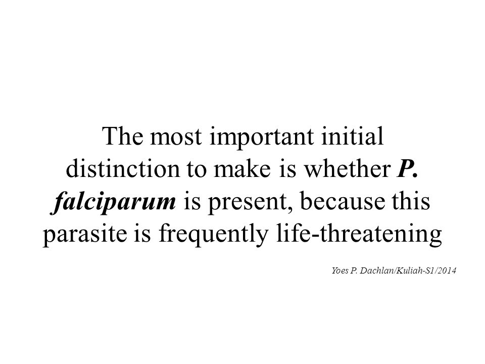The most important initial distinction to make is whether P