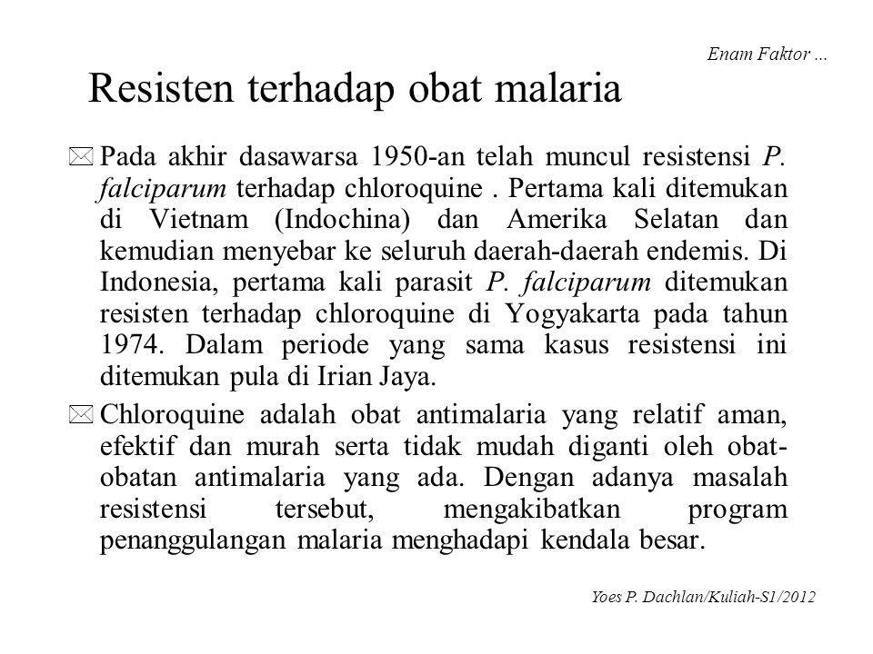 Resisten terhadap obat malaria