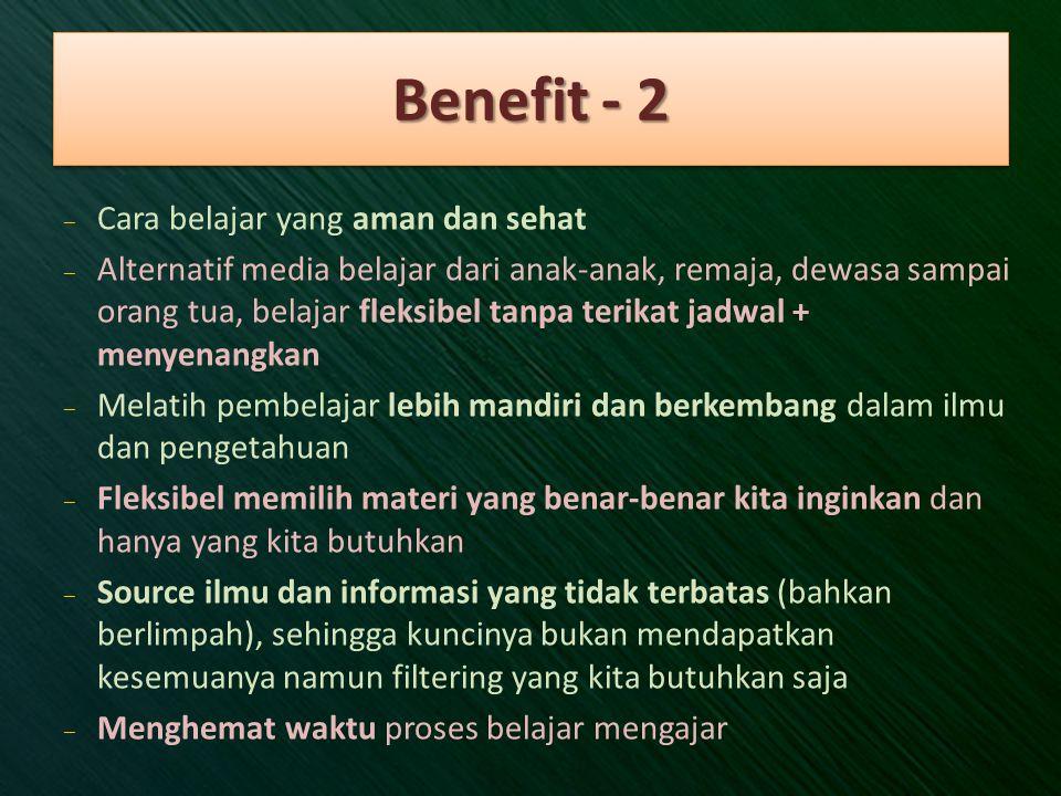 Benefit - 2 Cara belajar yang aman dan sehat