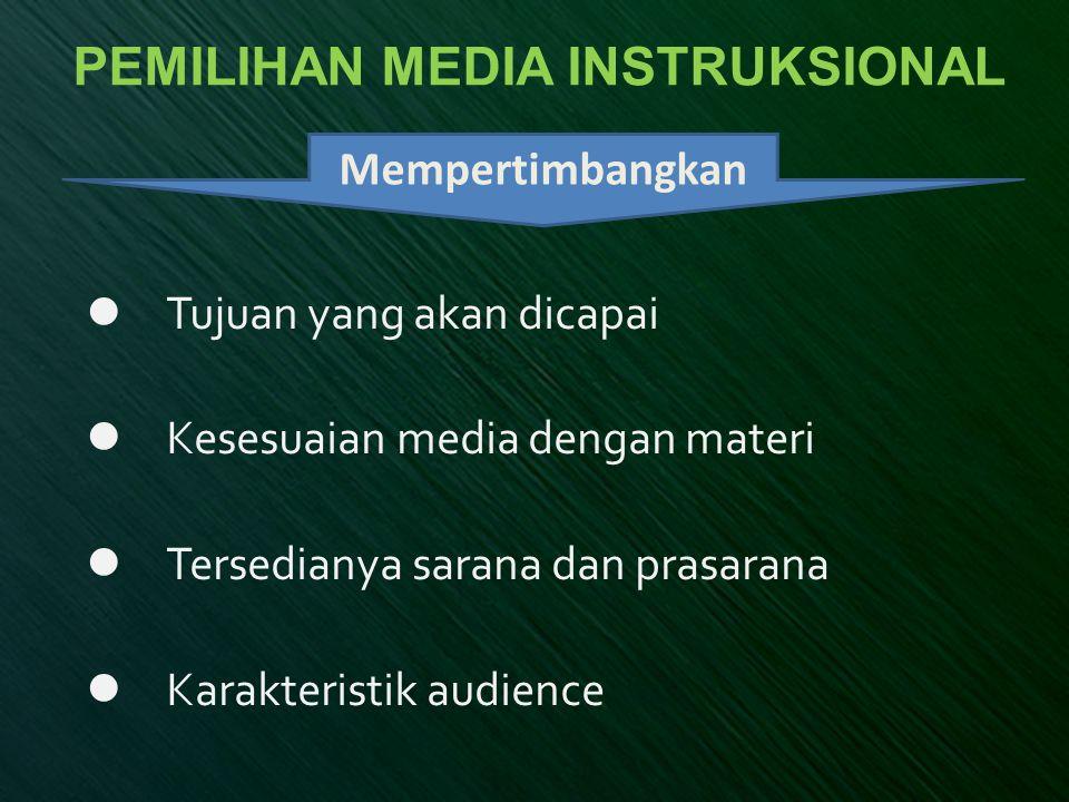 PEMILIHAN MEDIA INSTRUKSIONAL