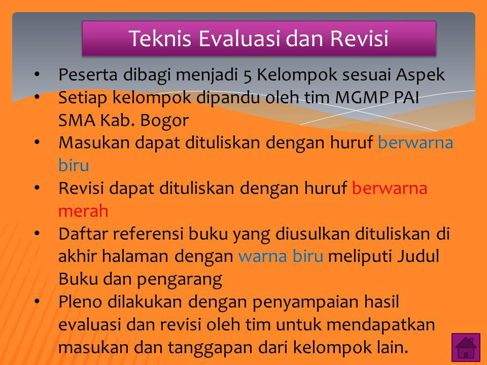 Teknis Evaluasi dan Revisi