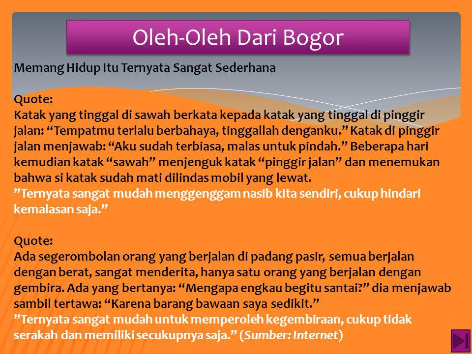 Oleh-Oleh Dari Bogor