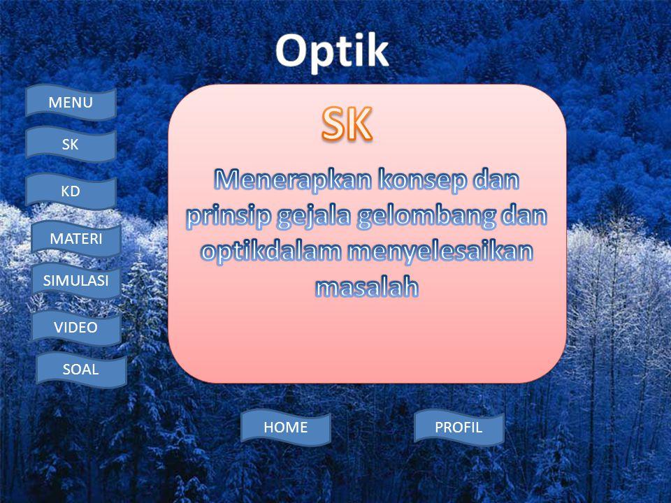 SK Menerapkan konsep dan prinsip gejala gelombang dan optikdalam menyelesaikan masalah