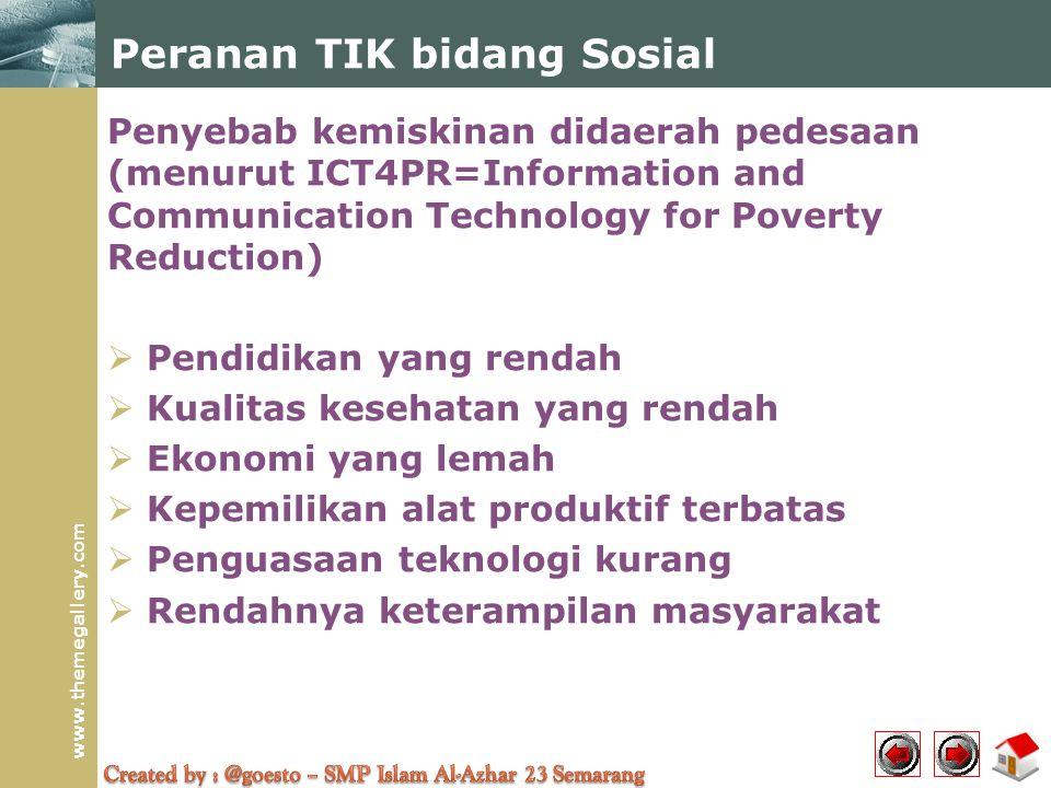 Peranan TIK bidang Sosial
