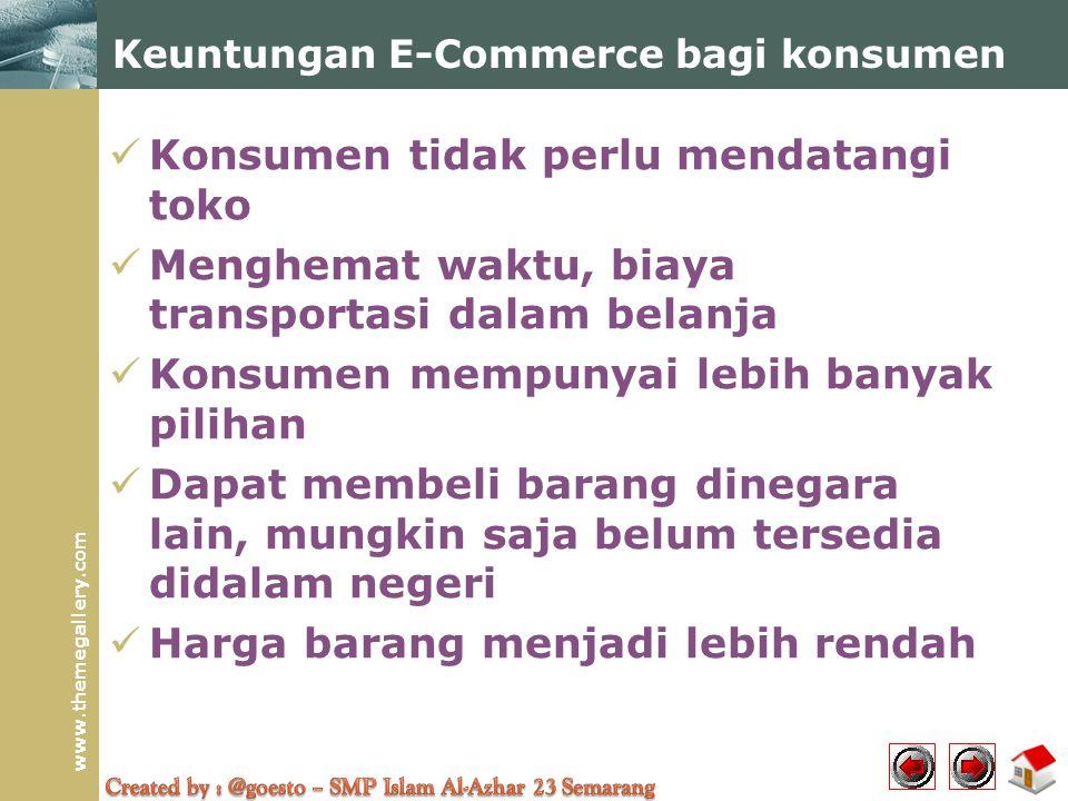 Keuntungan E-Commerce bagi konsumen