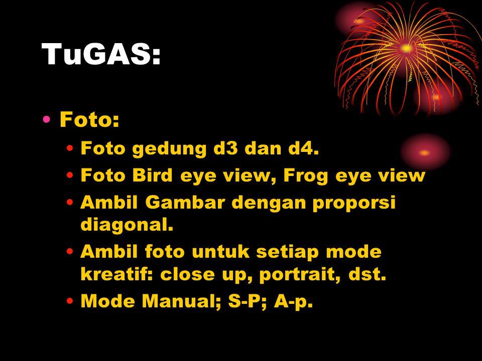TuGAS: Foto: Foto gedung d3 dan d4. Foto Bird eye view, Frog eye view