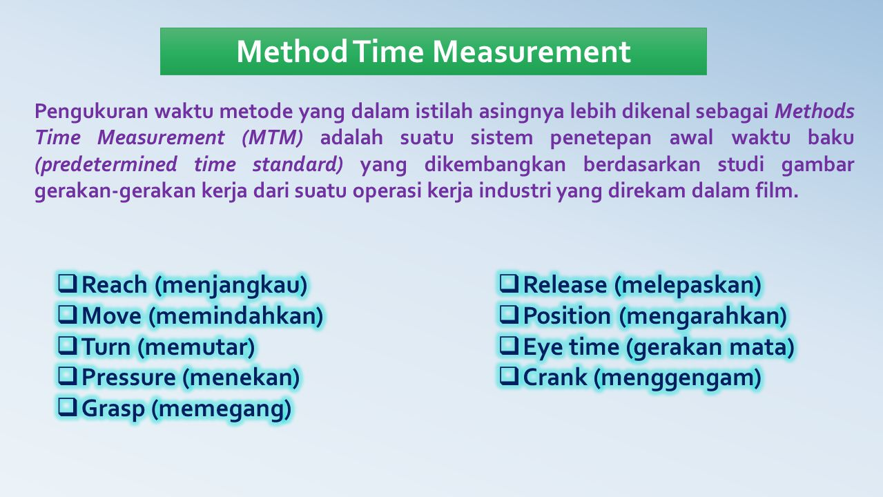 Method Time Measurement