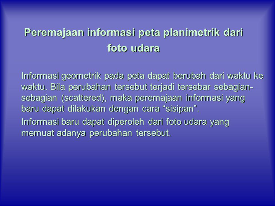 Peremajaan informasi peta planimetrik dari foto udara
