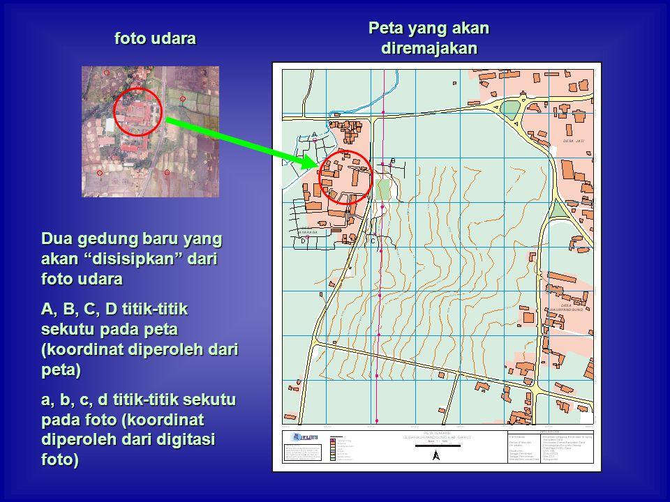 Peta yang akan diremajakan
