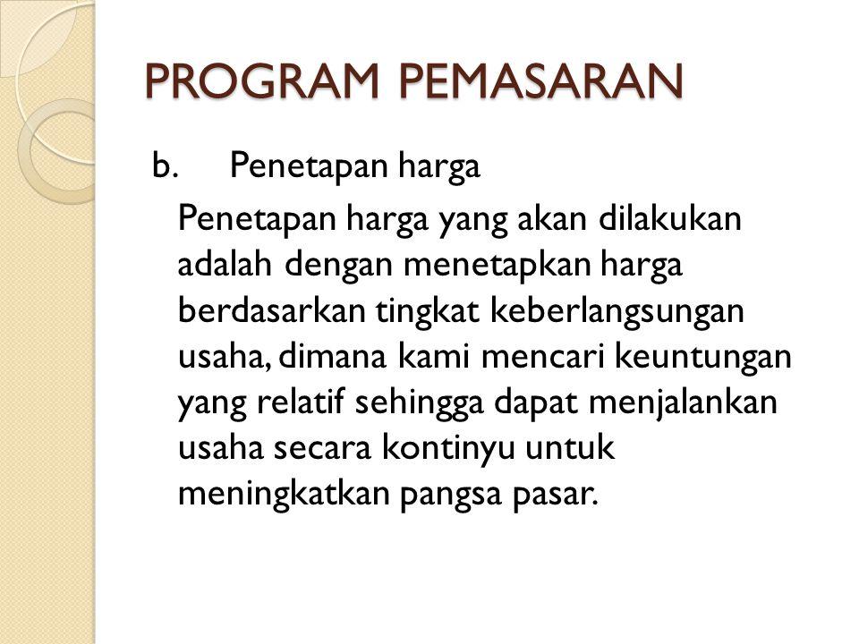 PROGRAM PEMASARAN