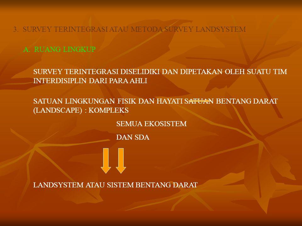 3. SURVEY TERINTEGRASI ATAU METODA SURVEY LANDSYSTEM