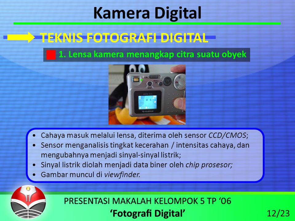 Kamera Digital TEKNIS FOTOGRAFI DIGITAL