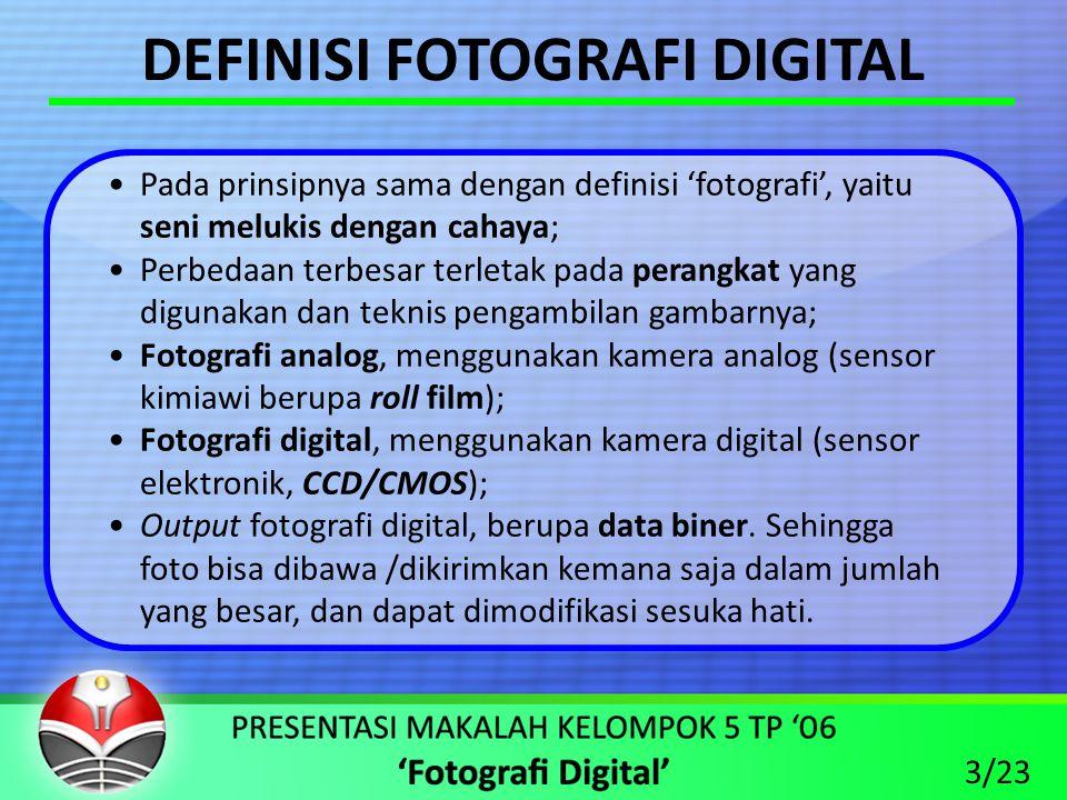 DEFINISI FOTOGRAFI DIGITAL