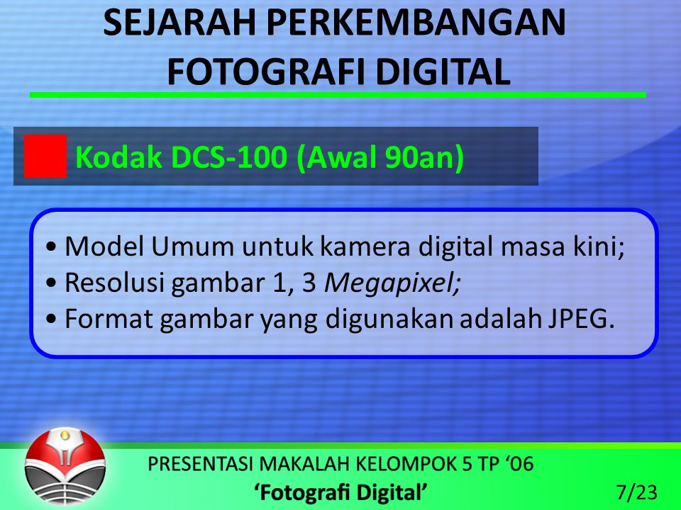 SEJARAH PERKEMBANGAN FOTOGRAFI DIGITAL