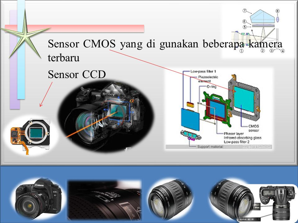 Sensor CMOS yang di gunakan beberapa kamera terbaru Sensor CCD
