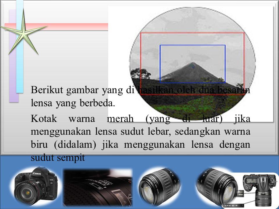 Berikut gambar yang di hasilkan oleh dua besaran lensa yang berbeda.