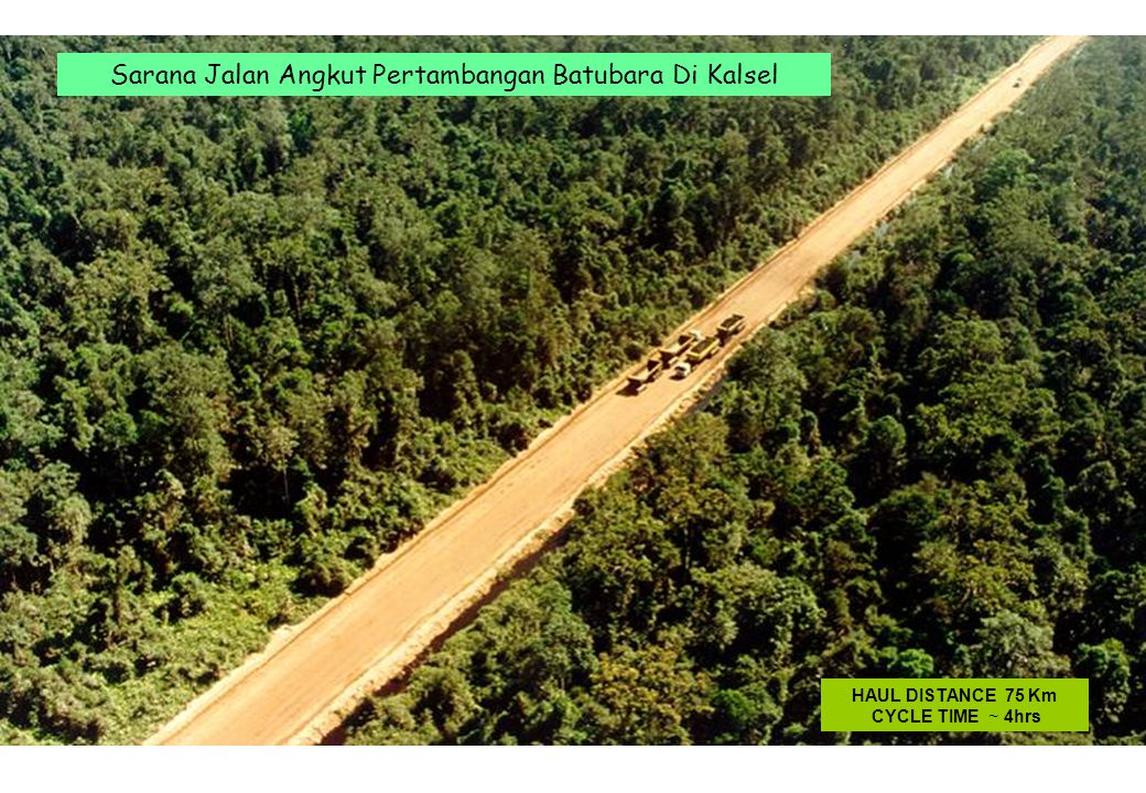 Sarana Jalan Angkut Pertambangan Batubara Di Kalsel