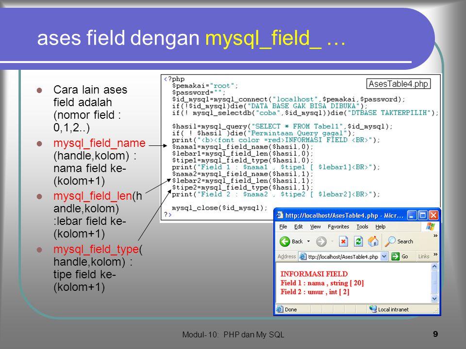 ases field dengan mysql_field_ …