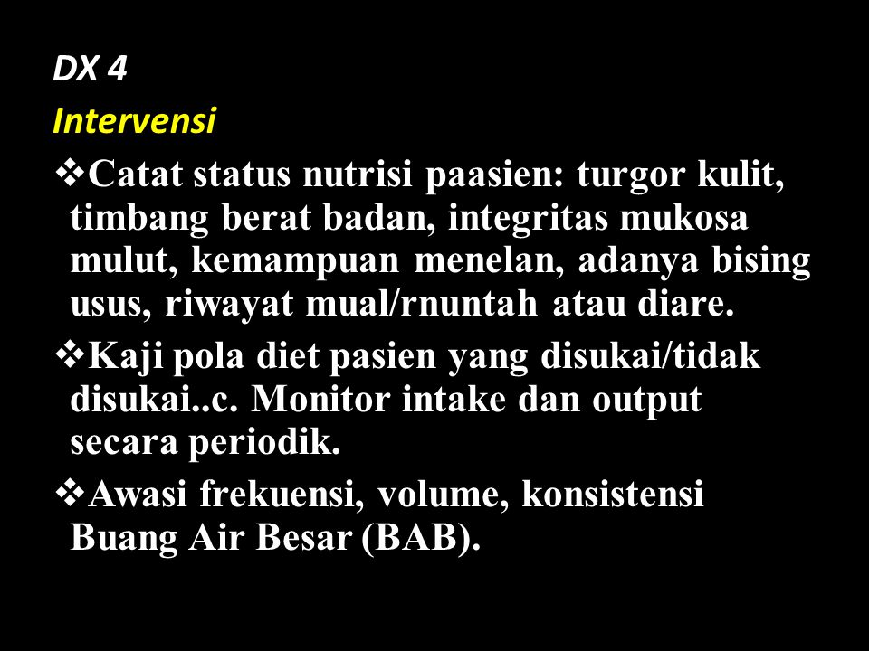 DX 4 Intervensi.