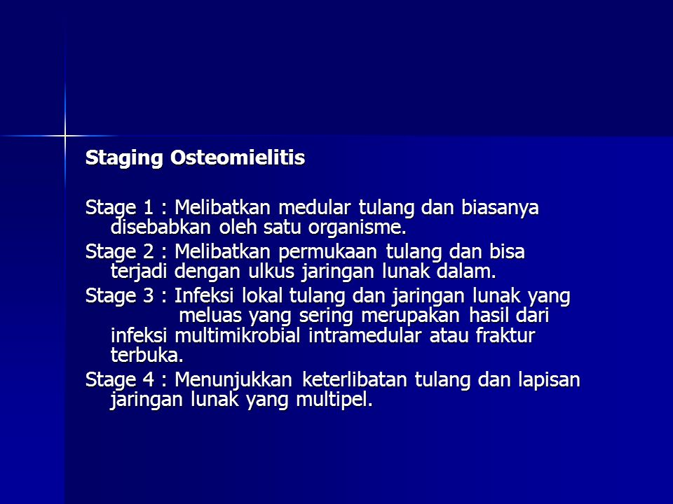 Staging Osteomielitis