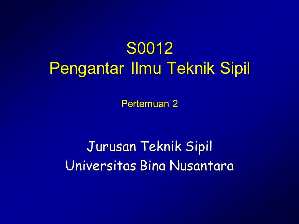 S0012 Pengantar Ilmu Teknik Sipil Pertemuan 2