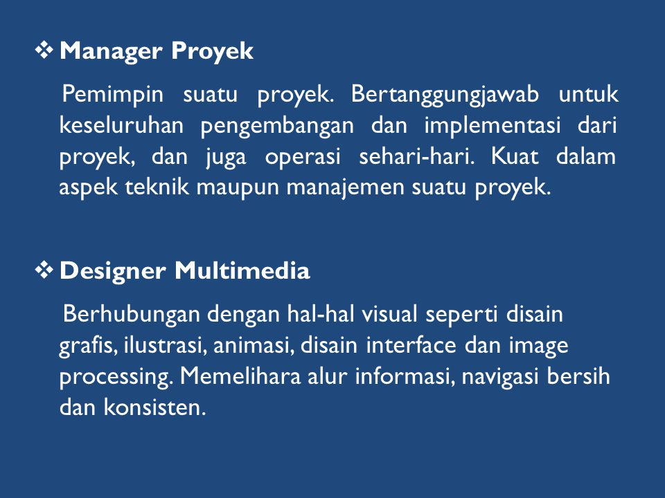 Manager Proyek