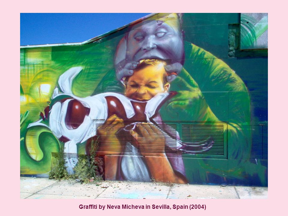 Graffiti by Neva Micheva in Sevilla, Spain (2004)
